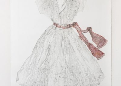Linda Ridgway, Hester's Letter, 2019, Graphite and colored pencil on paper, 59h x 42w in