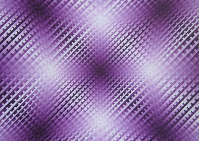 Susie Rosmarin, #402 Violet, 2008, Acrylic on canvas, 20h x 20w in