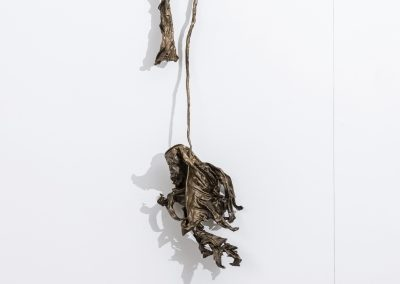 Linda Ridgway, Glory, 2019, Bronze with text and graphite, 38h x 21w x 4d in