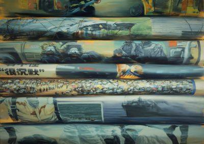 Xiaoze Xie, April - December 2008, G.Z.R.B. (Guangzhou Ri Bao), 2011, Oil on canvas, 78 x 96 in