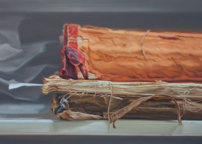 Xiaoze Xie, Avery Architectural and Fine Arts Library, 2019, Oil on canvas, 40h x 60w in
