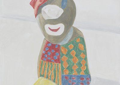 Francesca Fuchs, Clown, 2018, Acrylic on canvas, 41 1/2h x 30w in