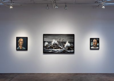 David Bates, Installation view, David Bates: Painting and Sculpture, 2016, Talley Dunn Gallery
