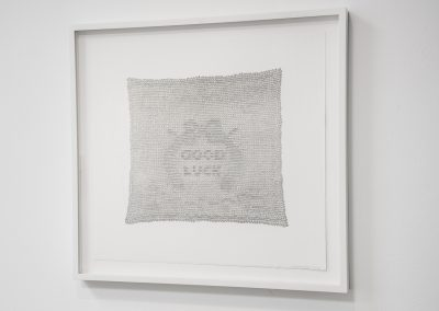 Linda Ridgway, Forever, 2016, Graphite on cut paper, 22 1/4h x 24w in