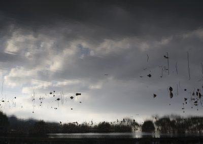 Ori Gersht, Hanging Sky 05, 2016, Archival pigment print, 47 1/2h x 70 3/4w in