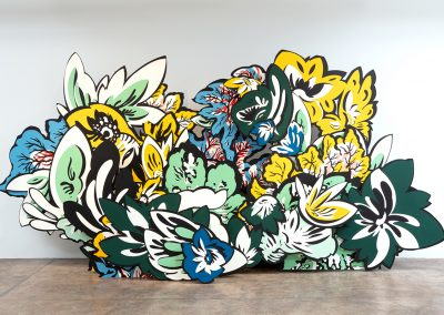 Natasha Bowdoin, Hortus Conclusus, 2019, Paint on board, 93h x 192w x 48d in