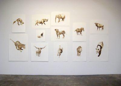 Helen Altman, Installation view, Helen Altman torch drawings, Talley Dunn Gallery