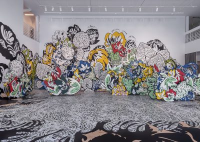 Natasha Bowdoin, Installation view, Sideways to the Sun, 2019, Moody Center for the Arts at Rice University