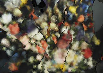 Ori Gersht, Material E01 - After J. Brueghel The Elder, 2014, Archival pigment print, 75 3/4h x 59 1/2w in