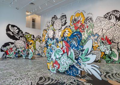 Natasha Bowdoin, Installation view, Sideways to the Sun, 2019, Moody Center for the Arts at Rice University