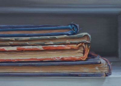 Xiaoze Xie, Avery Architectural and Fine Arts Library, 2019, Oil on linen, 24h x 42w in