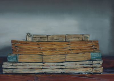 Xiaoze Xie, Chinese Library No. 68, 2019, Oil on linen, 42h x 70w in