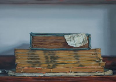 Xiaoze Xie, Chinese Library No. 69, 2019, Oil on linen, 48h x 74w in