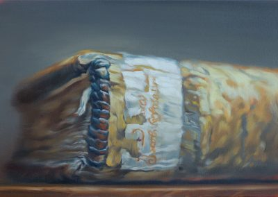 Xiaoze Xie, Princeton University Firestone Library, 2019, Oil on canvas, 20h x 30w in