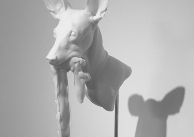 Erick Swenson, Sketch for Dressage, 2011, Urethane resin and paint on MDF, 15 1/4h x 4 1/2w x 10d in