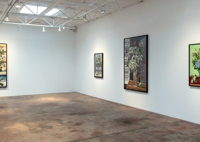 David Bates, Installation view, Portraits of Flowers, 2018, Talley Dunn Gallery