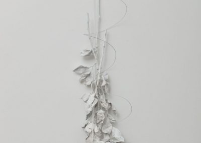 Linda Ridgway, A Sepal, a Petal and a Thorn, 2019, Bronze, unique, 33h x 10w x 8d in