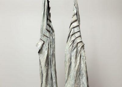 Joseph Havel, White Curtains, 2001-2002, Bronze, unique, 97h x 37w x 25d in