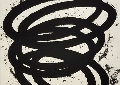 Richard Serra, Finally Finished II, 2017, 1-color etching, 75h x 59 3/4w in