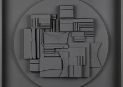 Louise Nevelson, Full Moon, 1980, Polyester resin cast multiple, 18 1/2h x 18 1/2w in