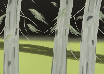 Alex Katz, Three Trees, 2018, 25 color silkscreen on Saunders Waterford Paper, 37h x 59w in