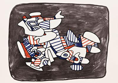 Jean Dubuffet, Lion Heraldique, 1976, Screenprint, 27 1/2h x 34 1/2w in