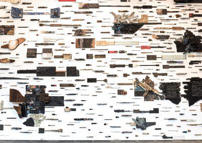 Leonardo Drew, Installation view, Number 197, 2017, The de Young Museum