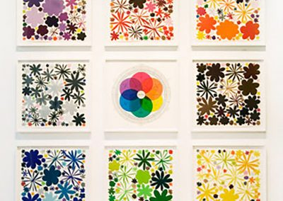 Polly Apfelbaum, Color Field Notes (series), 2009, Woodblock, Osamu (Japanese Handmade Triple Thick Paper), 20 1/4h x 20 1/4w in