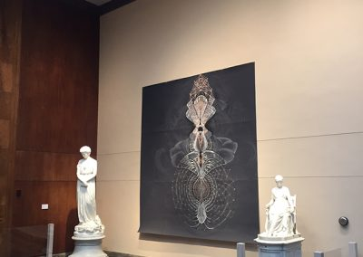 Amy Myers, Installation view, The Opera Inside the Atom: Large-Scale Drawings (2007-2008), 2019, Berkshire Museum