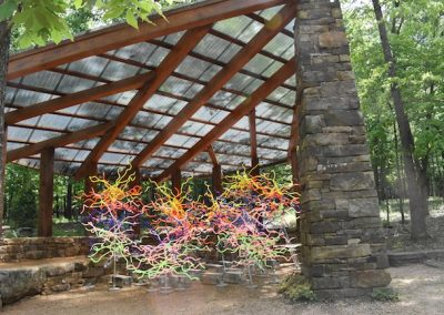Dale Chihuly, Installation view, Chihuly: In the Garden and in the Forest, 2017, Crystal Bridges Museum of Art