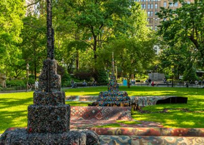 Leonardo Drew, Installation view, City in the Grass, 2019, Madison Square Park