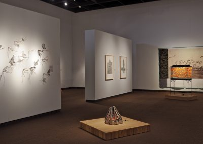 Helen Altman, Installation view, Sticks and Stones, 2018, Tyler Museum of Art