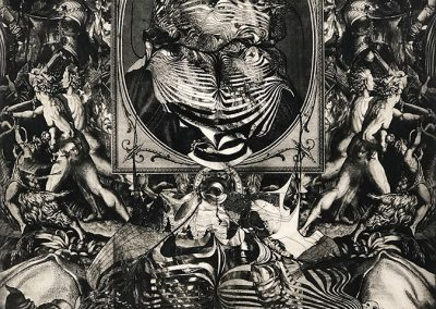 Ted Kincaid, Divergent Truths, 2019, Intaglio print, 23h x 19w in