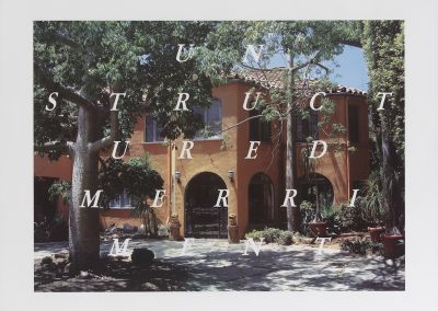Ed Ruscha, Unstructured Merriment, 2016, 19-color lithograph and screenprint, 23 1/4h x 30w in