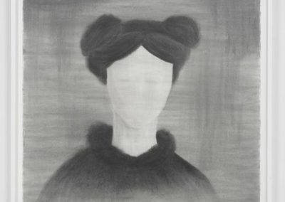 Robyn O'Neil, Head of a Woman, 2012, Graphite on paper, 44 3/4h x 42 1/8w in