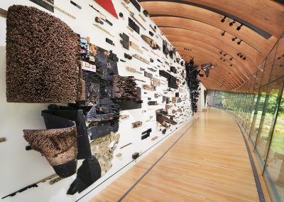 Leonardo Drew, Installation view, Number 184T, 2017-2021, Crystal Bridges Museum of American Art