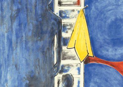 Jasper Johns, Untitled, 2011, Intaglio print, 42 1/2h x 33 5/8w in