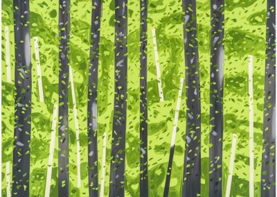 Alex Katz, 10:30 AM, 2017, 25 color silkscreen on Saunders Waterford Paper, 55h x 74w in