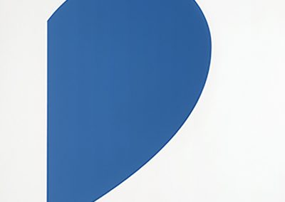 Ellsworth Kelly, Blue Curve / Red Curve, 2014, 2-color lithograph, 30h x 47 3/8w in