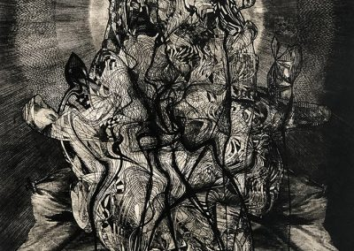 Ted Kincaid, Liberty in the Throes of Death, 2019, Intaglio print, 23h x 19w in