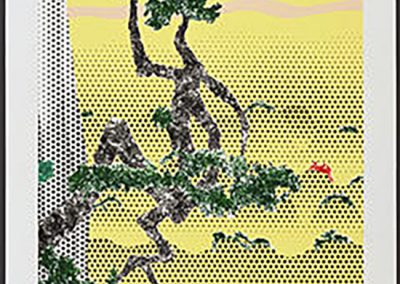 Roy Lichtenstein, Landscape with Poet, 1996, 16-color lithograph and screenprint, 90 1/2 × 36 1/8 in