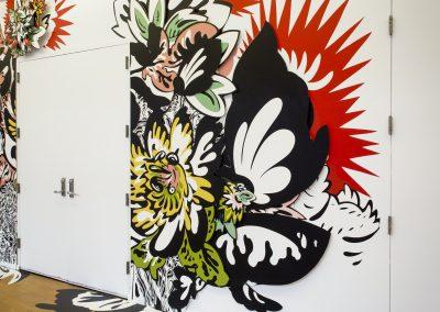 Natasha Bowdoin, Installation view, Maneater, 2018-2019, MASS Moca
