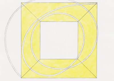 Robert Mangold, Framed Square with Open Center A, 2013, Soft ground etching and aquatint, 27 1/4h x 27w in