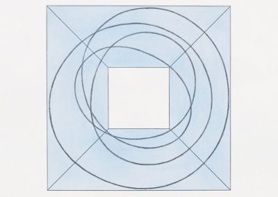 Robert Mangold, Framed Square with Open Center B, 2013, Soft ground etching and aquatint, 27 1/4h x 27w in