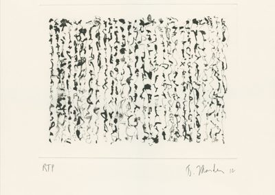 Brice Marden, Obama Letter, 2012, 1 color photogravure/etching, 14 × 14 in