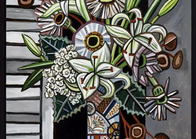 David Bates, Night Flowers II, 2016, Oil on canvas, 72h x 48w in