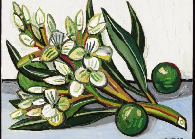 David Bates, Oleander Branch, 2017, Oil on canvas, 16h x 20w in