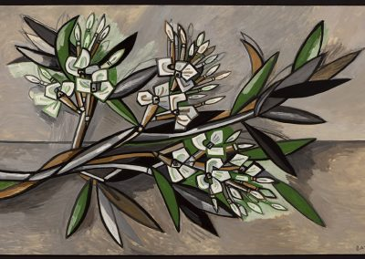 David Bates, Oleander Branch, 2017, Oil on canvas, 48h x 80w in