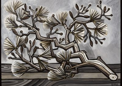 David Bates, Pine Branch I, 2017, Oil on canvas, 36h x 48w in