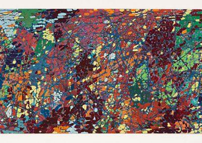 Sam Reveles, Poulaphouca 3, 2016, Gouache on paper, 11h x 30w inv